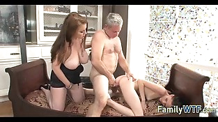 Mom and daughter threesome 1098