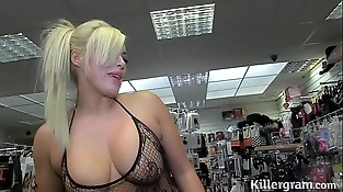 Hot blonde Milf sucking strangers cocks in lovemaking ...