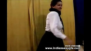 Horny Hot Indian PornStar Babe as School woman Squeezing Big Tits and masturbating Part1 - indiansex