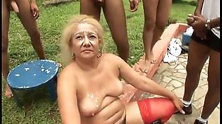 Brazillian Gang-fuck Granny