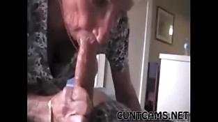 Grandmas Roomy Getting Fed Cum - More at cuntcams.net