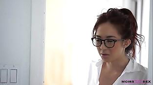 Mom teachs lovemaking stepson Seduced tutor Mila Jade and Nina Elle