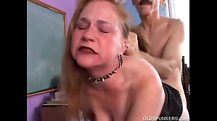 Kinky old spunker likes a rough fucking and a sticky facial cumshot