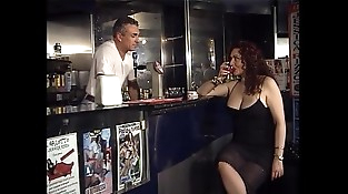 Horny Jessica walk into the bar of sin to taste the bartender'_s dick