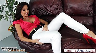 Lustful cockblowers cougar Tara Holiday fucking