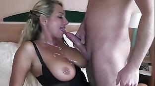 German Big Tit MILF seduce Big Dick Youthful Boy to Fuck