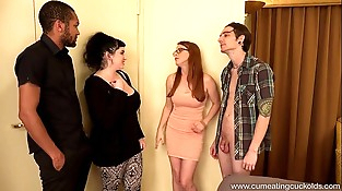 Penny Pax fucks a BBC in front of her hubby