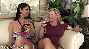 Horny Housewives Gang-bang A Random Guy!
