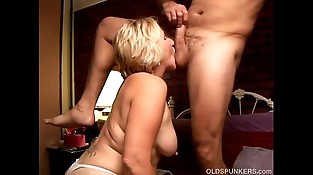 Kinky old spunker licks his asshole and sucks his hard-on