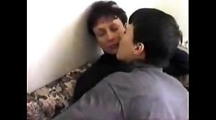 Russian mammy boy lovemaking