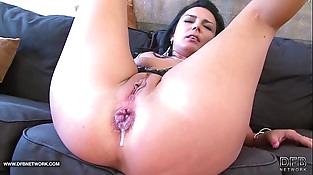 Hot Brunette hardcore interracial ass fucked black shaft