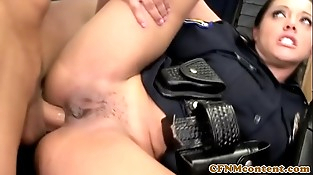 CFNM police femdoms getting anal invasion from subs