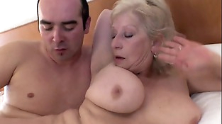 Switch sides cowgirl lovemaking with coworker!