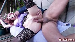 Kinky Mummy Shanda Fay Fucks in the Backyard!