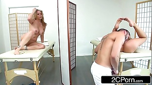 Mummy Julia Ann and her Stepdaughter Kendall Kayden Enjoying Big Cock at the Spa