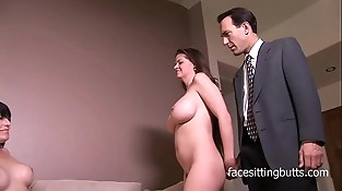 June and Daisy tempt a preacher and milk his dick dry